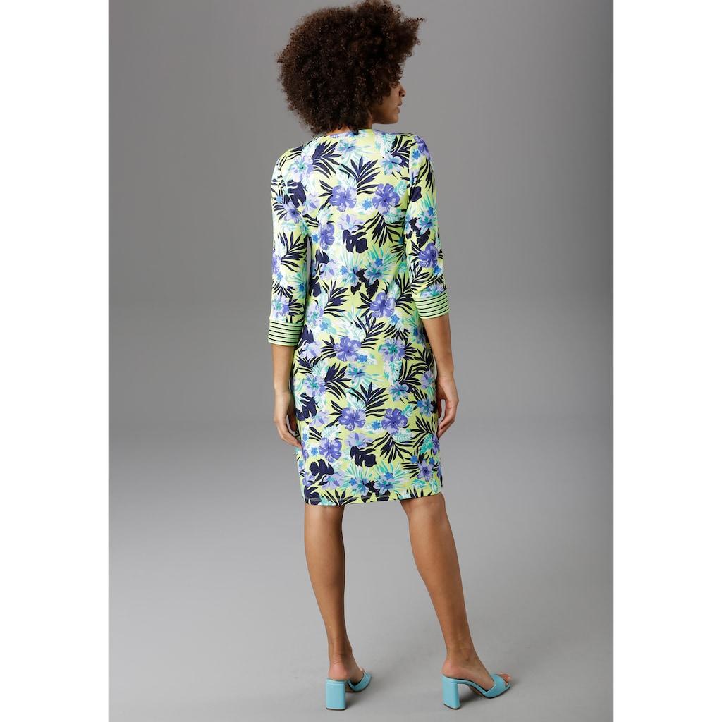 Aniston SELECTED Jerseykleid, mit gestreiften Ärmelabschlüssen - NEUE KOLLEKTION