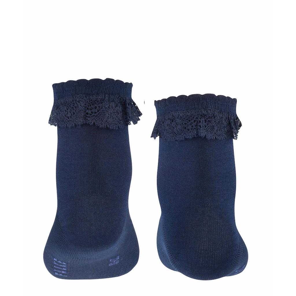 FALKE Socken »Romantic Lace«, (1 Paar), mit hohem Baumwollanteil