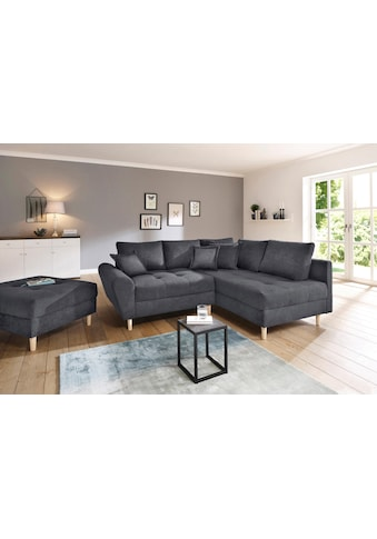 Home affaire Ecksofa »Rice«, incl. Hocker, mit Federkern kaufen