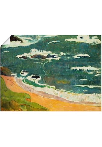 Artland Wandbild »Strand bei Le Pouldu. 1889«, Strand, (1 St.), in vielen Größen &... kaufen