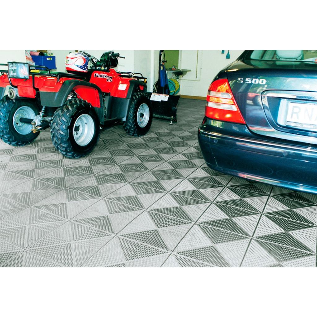 Bergo Flooring Terrassenplatten »Unique Steingrau«, Kunststofffliesen, einfach ineinanderstecken, 2m²