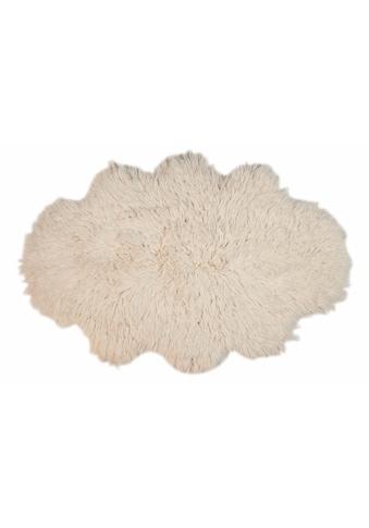Theko Exklusiv Wollteppich »Flokos 2«, wolkenförmig, 62 mm Höhe, reine Wolle, handgewebt, Wohnzimmer kaufen