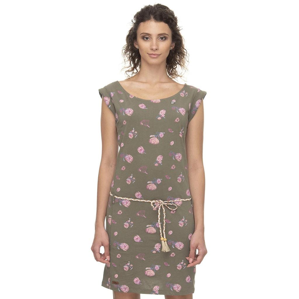 Ragwear Shirtkleid »TAMY FLOWERS«, (2 tlg., mit Gürtel in Lederoptik), mit multicolor Flower Allover Print