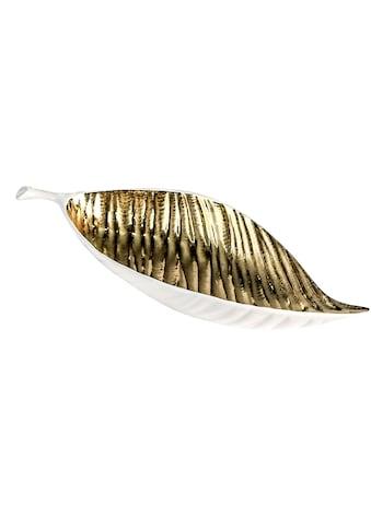 GILDE Dekoschale »Schale Sagrada, weiß/goldfarben«, Breite 40 cm, aus Keramik,... kaufen