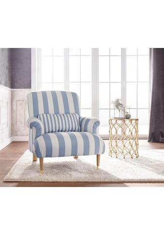 Guido Maria Kretschmer Home&Living XXL-Sessel »Cholet«, mit Zierkissen und Beinen aus... kaufen