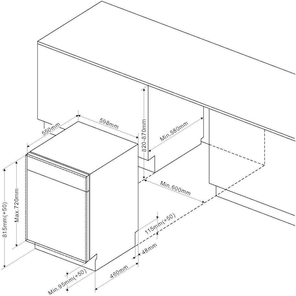 Amica vollintegrierbarer Geschirrspüler »EGSPV 593 910«, EGSPV 593 910, 13 Maßgedecke