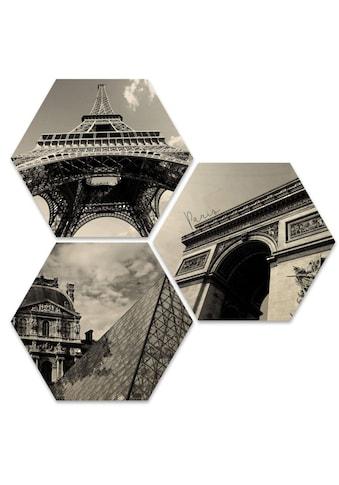 Wall-Art Mehrteilige Bilder »Impression Paris Stadt Collage«, (Set, 3 St.) kaufen