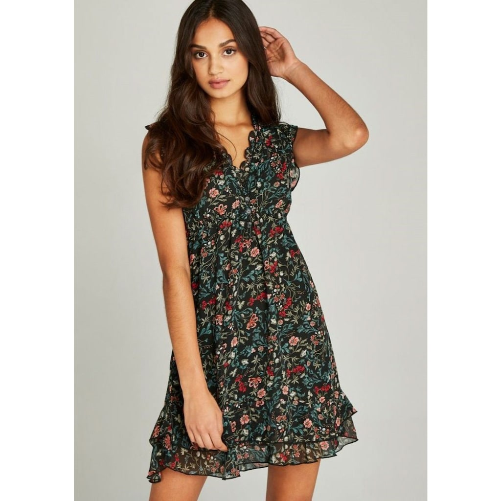 Apricot Druckkleid »Folk Floral Ditsy Dress«, im Lagenlook