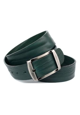 Anthoni Crown Ledergürtel, Vollledergürtel in dunkelgrün kaufen