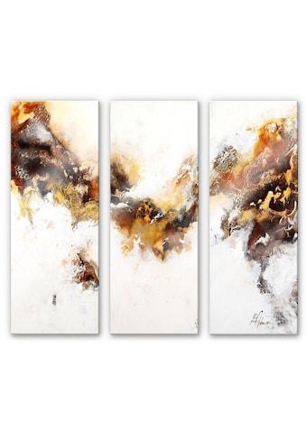 Wall-Art Mehrteilige Bilder »Flüssiges Gold Set (3-teilig)«, (Set, 3 St.) kaufen
