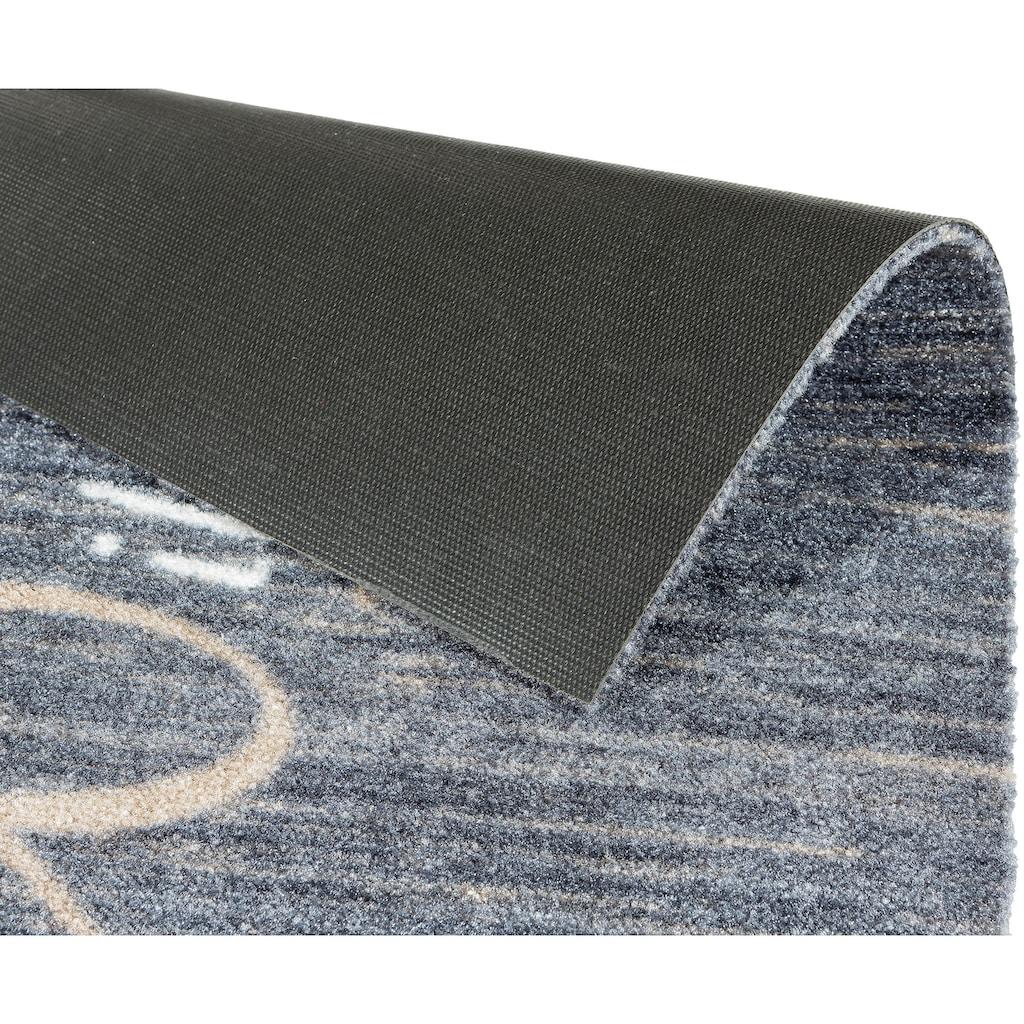ASTRA Fußmatte »Felicido 803«, rechteckig, 6 mm Höhe, Schmutzfangmatte, mit Spruch, waschbar