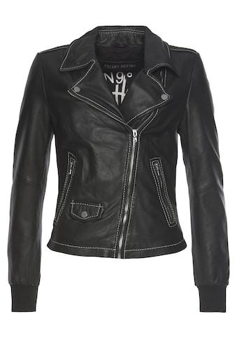 Freaky Nation Lederjacke »CoraLi-FN«, Bikerjacke mit coolen Zipper-Details kaufen