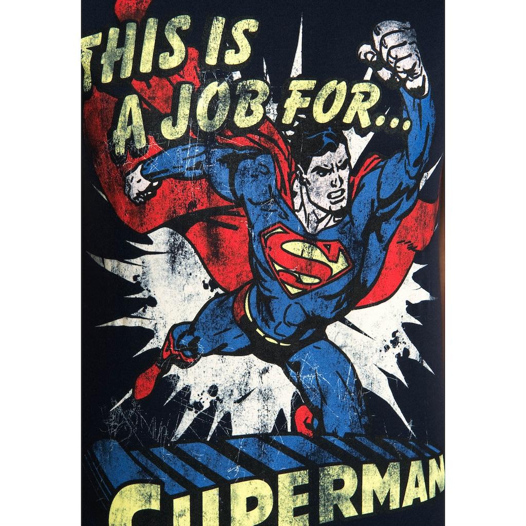 LOGOSHIRT T-Shirt »Superman«, mit lizenzierten Originaldesign