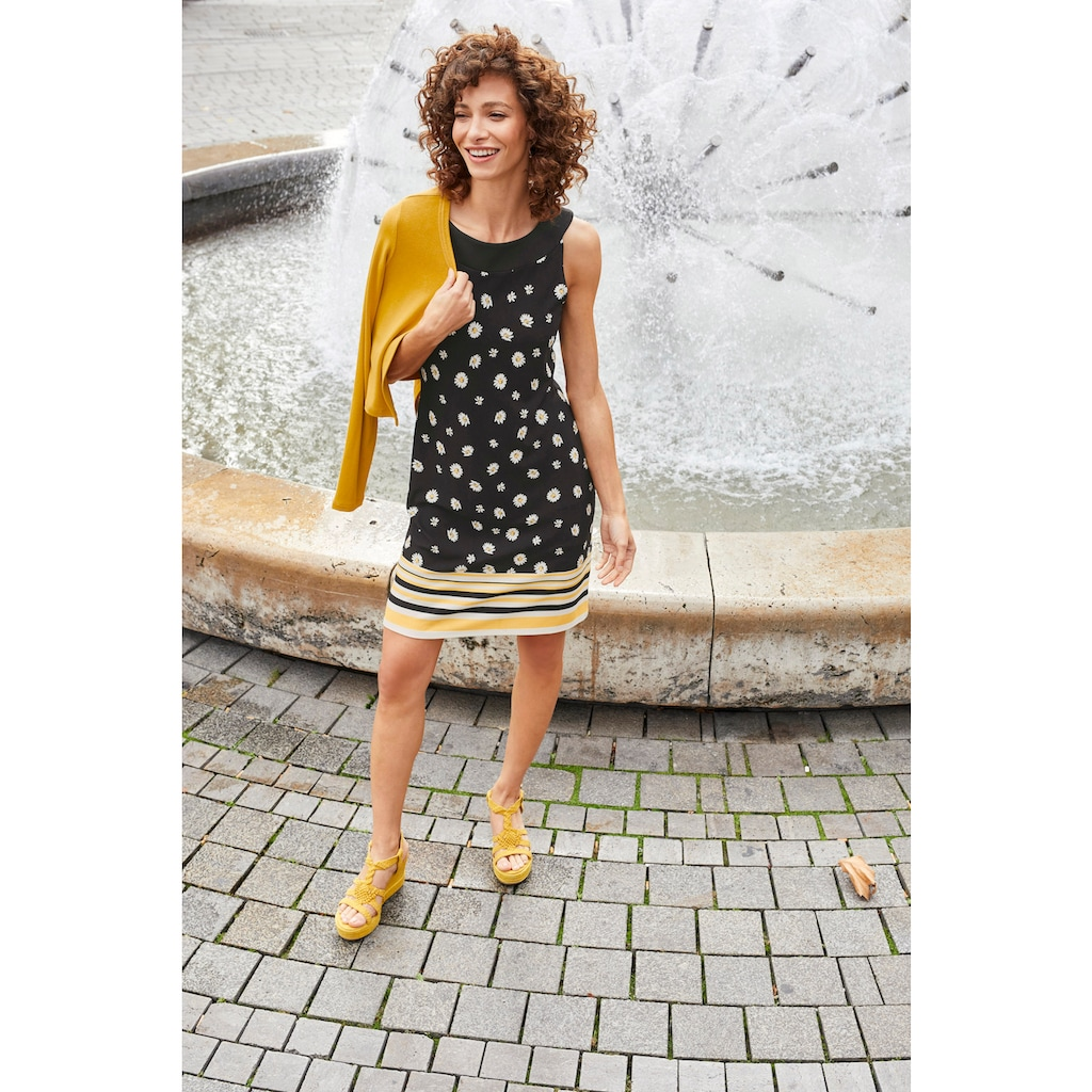 Aniston SELECTED Sommerkleid, im femininen Gänseblümchen-Druck - NEUE KOLLEKTION