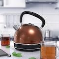 Arendo Vintage Retro Style Edelstahl-Wasserkocher im Kupfer Design