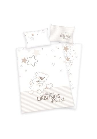 Herding Babybettwäsche »Kleiner Lieblingsmensch«, Mit Teddy und Schaf kaufen