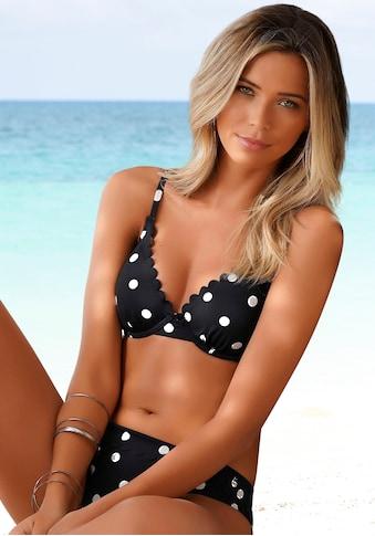 LASCANA Bügel-Bikini-Top »Jada«, mit leichter Wattierung und Muschelkante kaufen