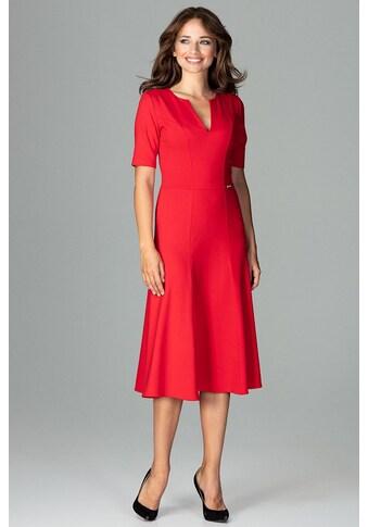 LENITIF Abendkleid mit femininem V - Ausschnitt kaufen