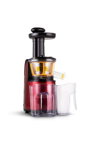Klarstein Slow Juicer 150W 80 U/min metallic rot »Fruitpresso Rossa II« kaufen