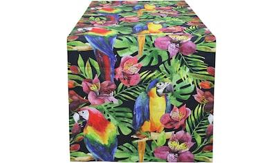 Tischläufer, »32656 Papagei«, HOSSNER  -  HOMECOLLECTION (1 - tlg.) kaufen
