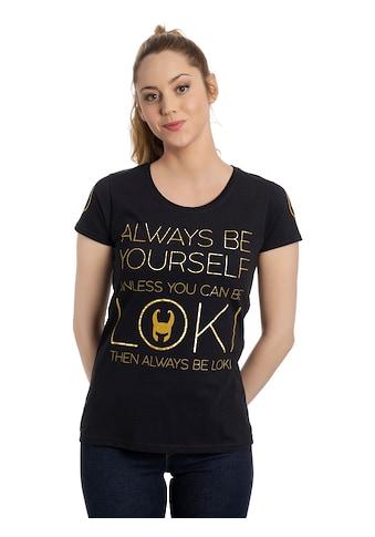 MARVEL T-Shirt »Marvel Loki Always Gold« kaufen