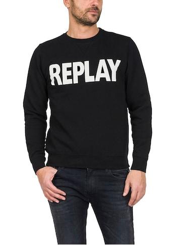 Replay Sweatshirt, Markenprint kaufen