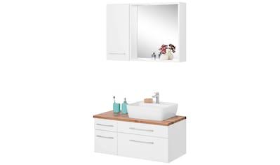 HELD MÖBEL Badmöbel-Set »Davos«, (3 St.), mit 2 Touch-LED-Einbauleuchten kaufen