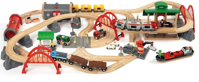 nachhaltig produzierte Spielzeugeisenbahn aus Holz