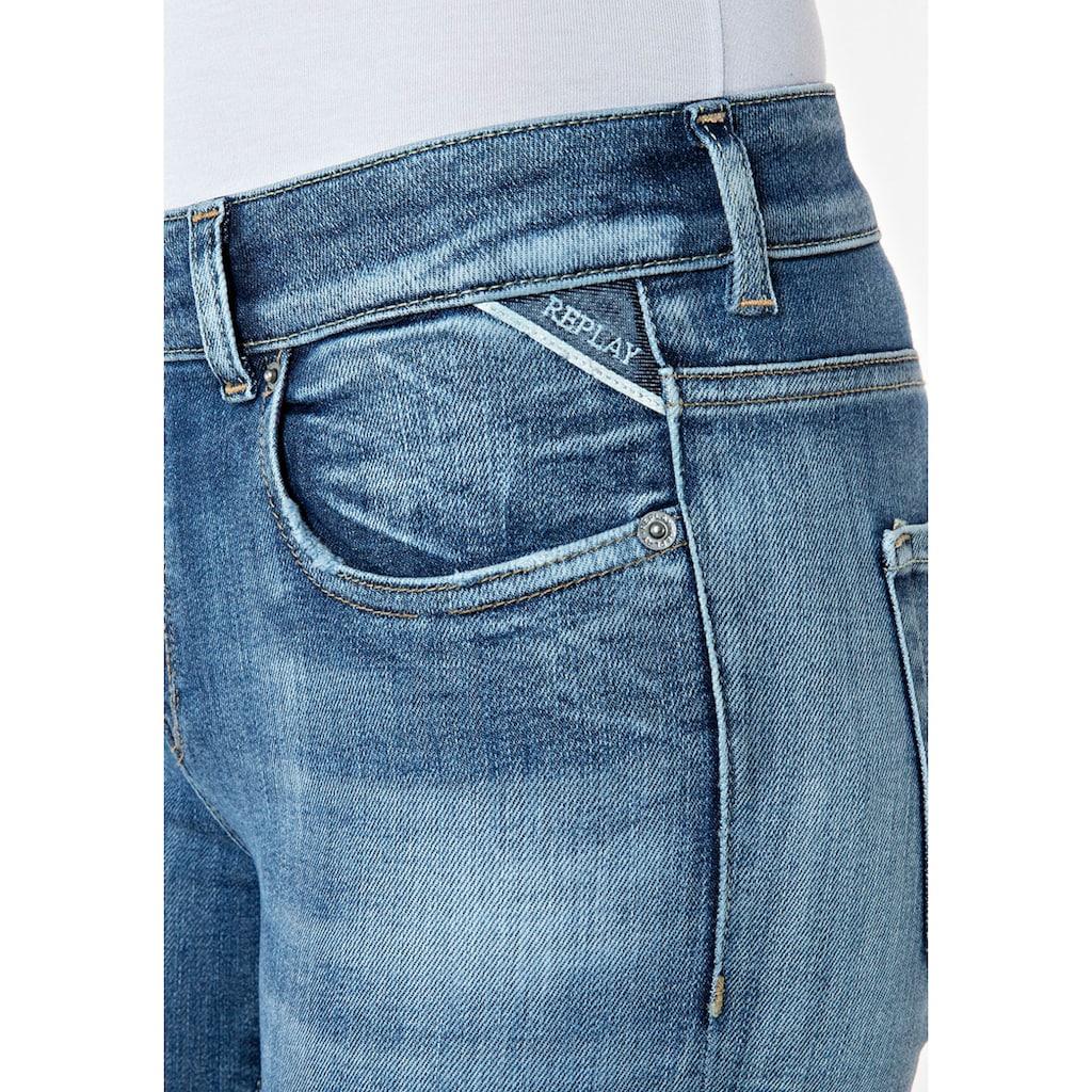 Replay Skinny-fit-Jeans, im Used-Look und im 5-Pocket-Style