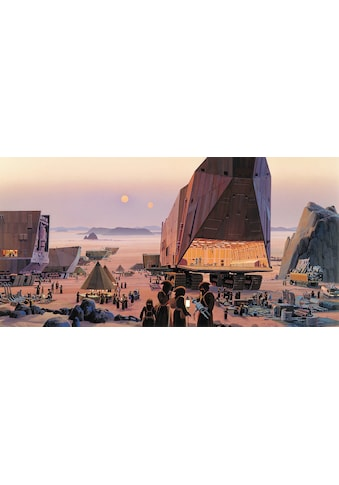 Komar Fototapete »Star Wars Classic RMQ Java Market«, futuristisch-mehrfarbig-Weltall kaufen
