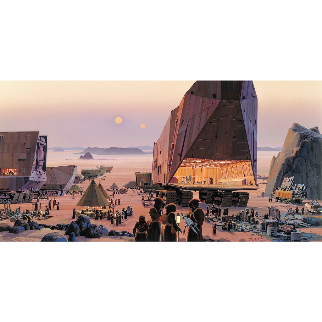 Komar Fototapete »Star Wars Classic RMQ Java Market«, futuristisch-mehrfarbig-Weltall
