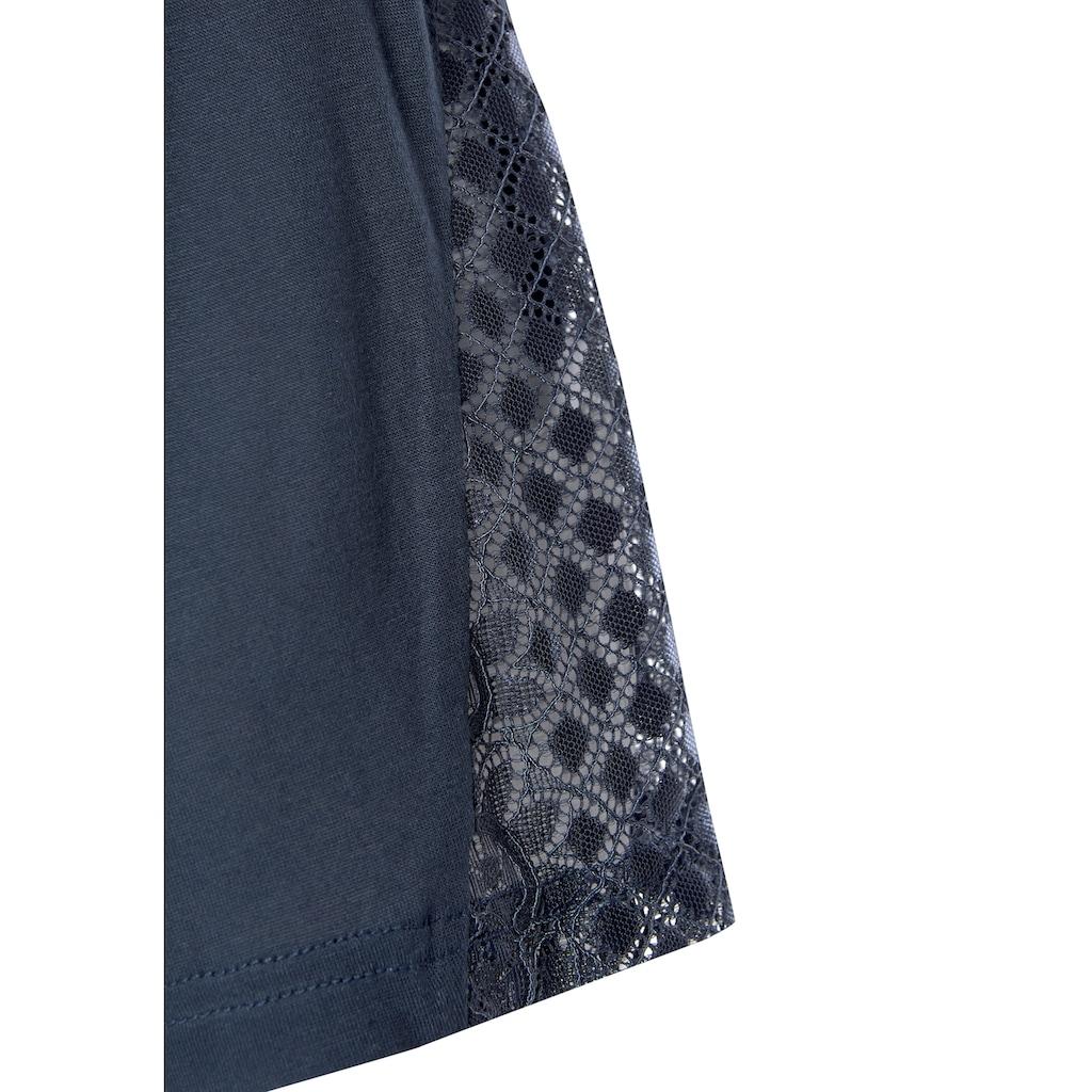 LASCANA Kimono, mit langen Ärmeln und Spitzen-Details