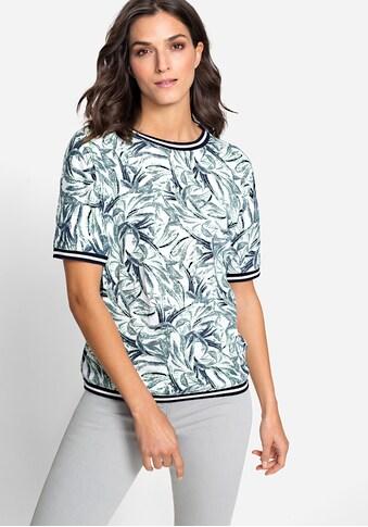 Olsen Rundhalsshirt, mit sportiven Abschlüssen kaufen