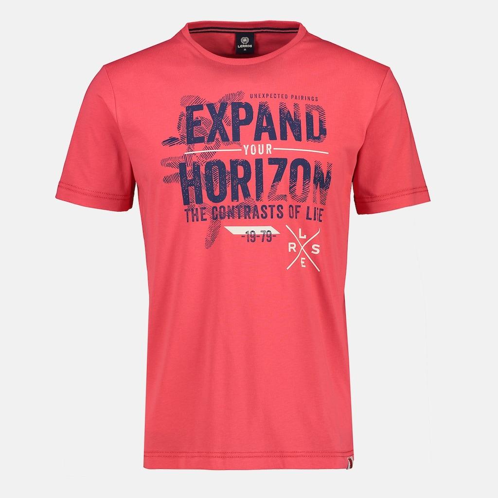 LERROS T-Shirt »Expand your horizon«, mit Brustprint, in Großen Größen
