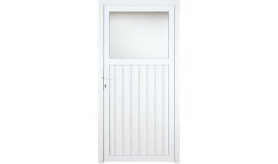 KM Zaun Nebeneingangstür »K605P«, BxH: 98x208 cm cm, weiß, rechts kaufen
