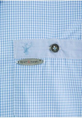 Spieth & Wensky Trachtenhemd mit Karodesign kaufen