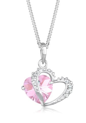 Elli Collierkettchen »Herz Anhänger Kristalle Love 925 Silber« kaufen