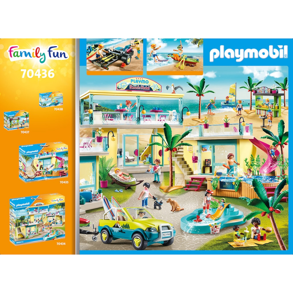 Playmobil® Konstruktions-Spielset »Strandauto mit Kanuanhänger (70436), Family Fun«, (88 St.), Made in Germany