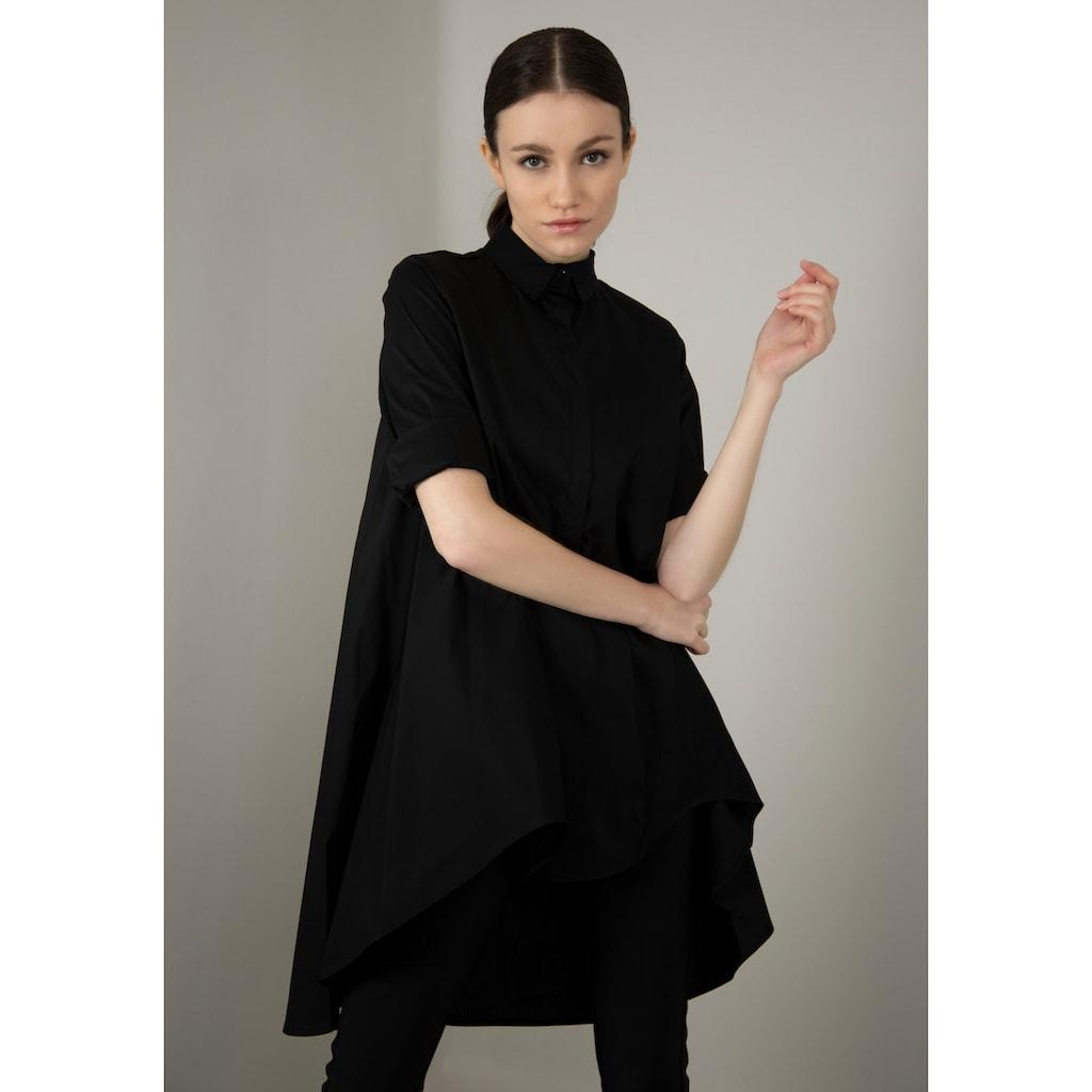 IMPERIAL Klassische Bluse »IMP-C ED3ABF«, glockenförmige Long-Form