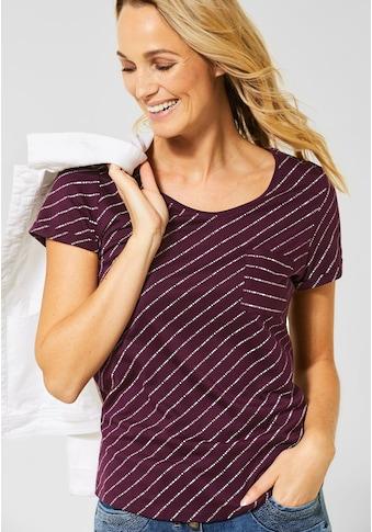 Cecil V-Shirt, mit diagonalem Streifenmuster kaufen