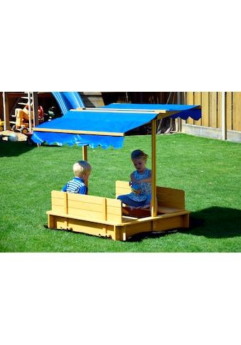 DOBAR Sandkasten , BxL: 120x119 cm, mit Dach + Bodenplane kaufen