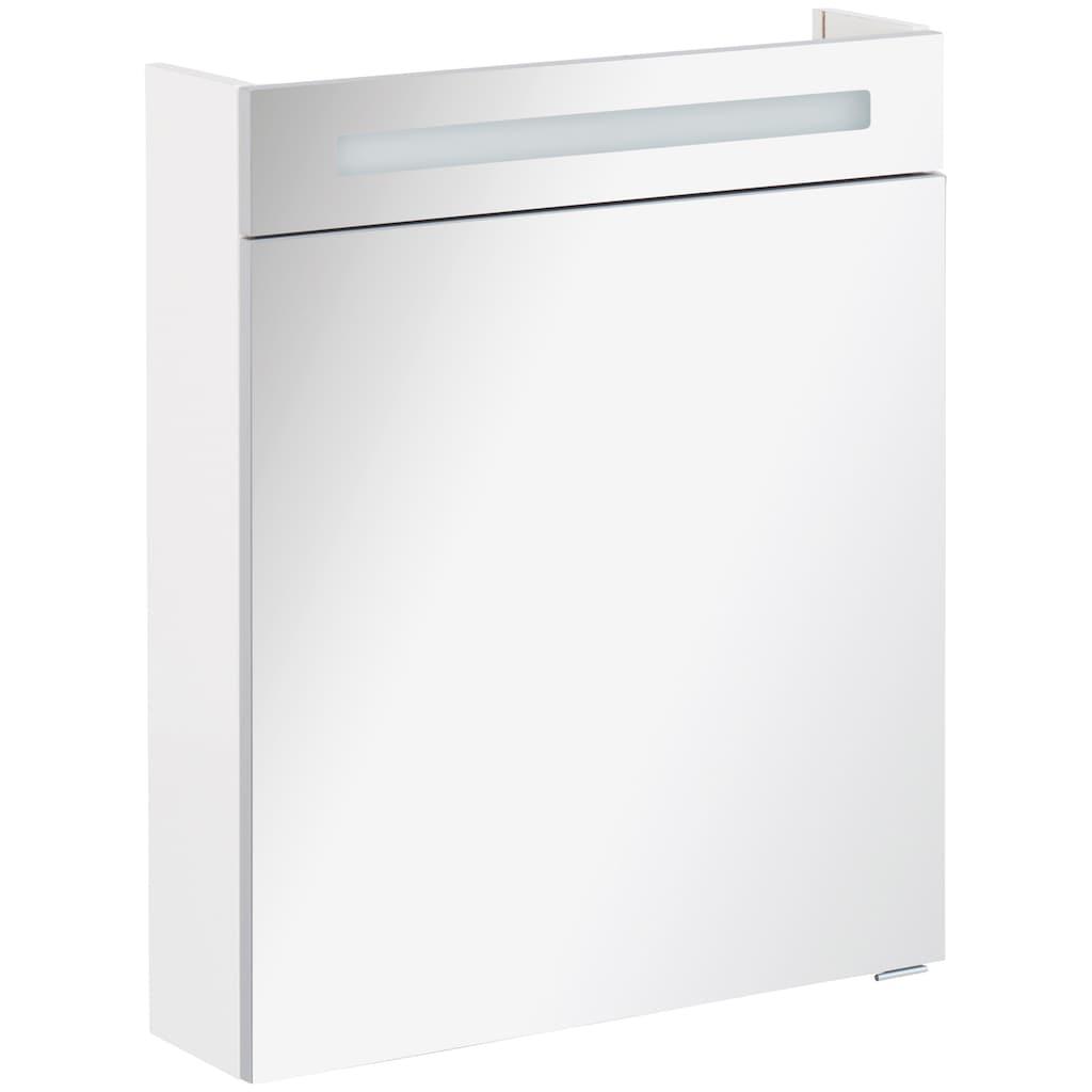 FACKELMANN Spiegelschrank »CL 60 - weiß«, LED-BadspiegelschrankBreite 60 cm, 1 Tür