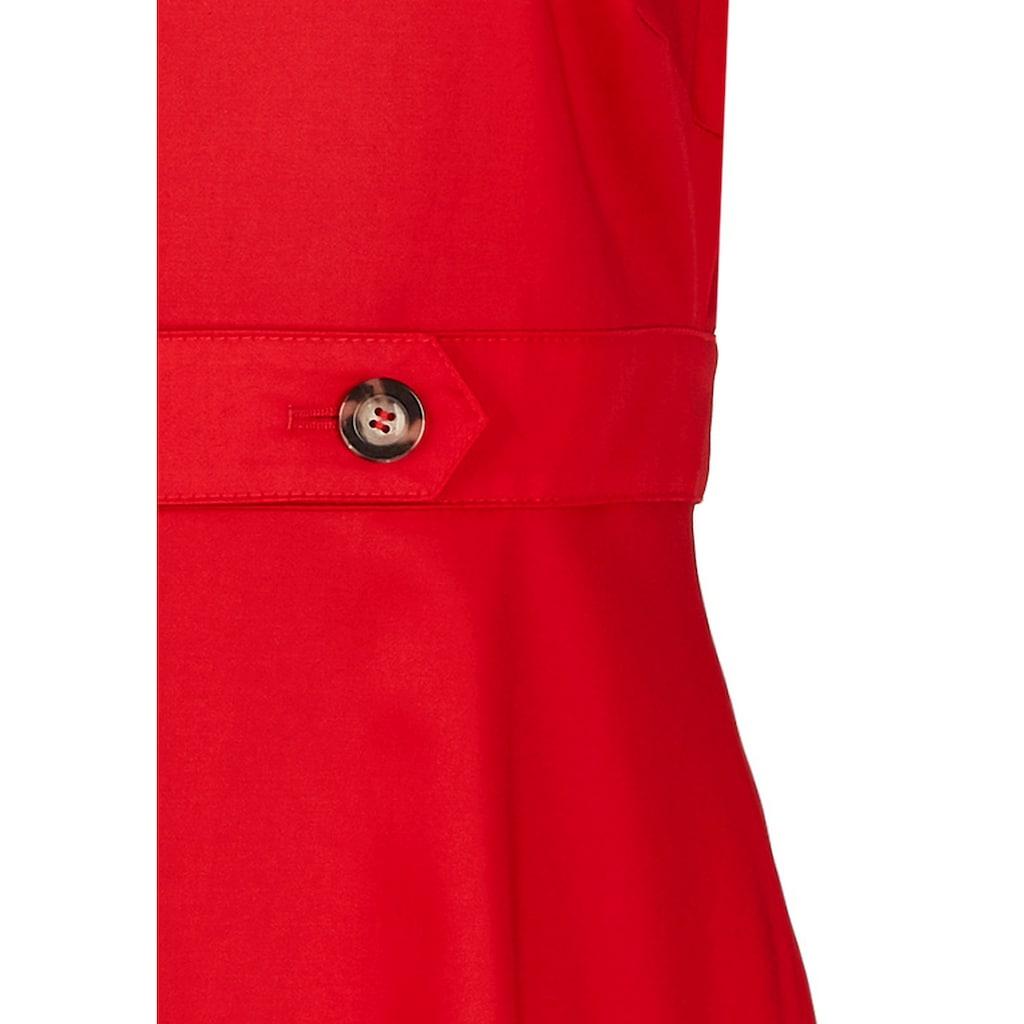 Daniel Hechter Unifarbenes Kleid mit breitem Gürtel
