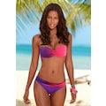 LASCANA Bügel-Bandeau-Bikini, im modischen Farbverlauf
