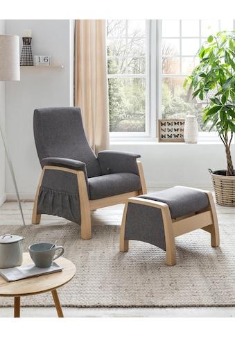 Home affaire Relaxsessel »Torge«, mit Schaukelfunktion und Schaukelhocker, Rückenlehne... kaufen