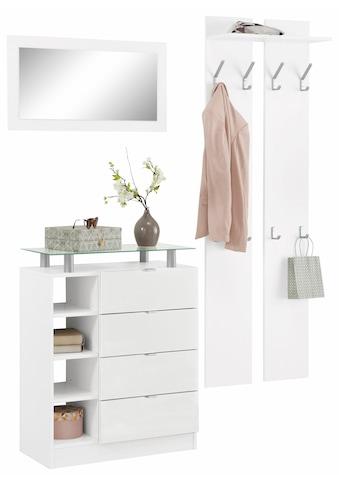 borchardt Möbel Garderoben-Set »Dolly«, (Set, 3 St.), mit Metallgriffen und... kaufen