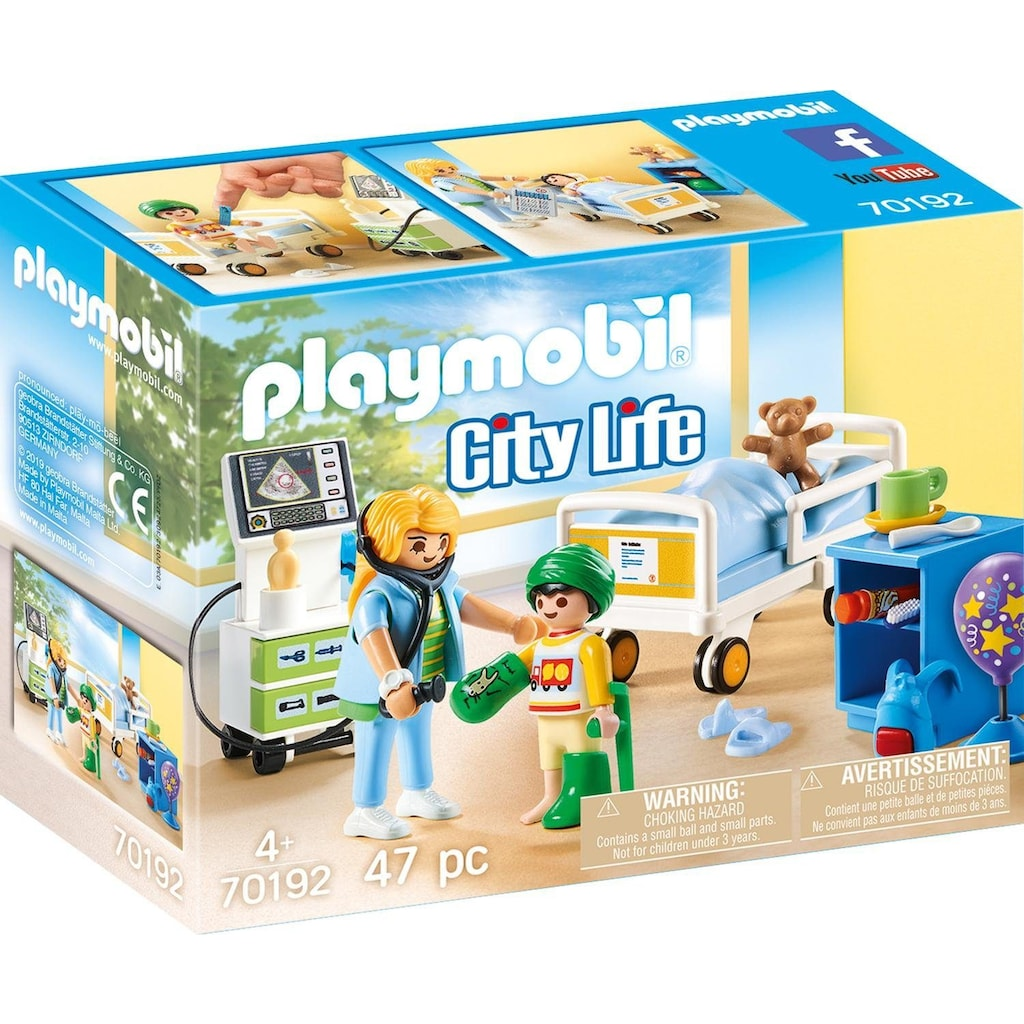 Playmobil® Konstruktions-Spielset »Kinderkrankenzimmer (70192), City Life«, (47 St.), Made in Europe