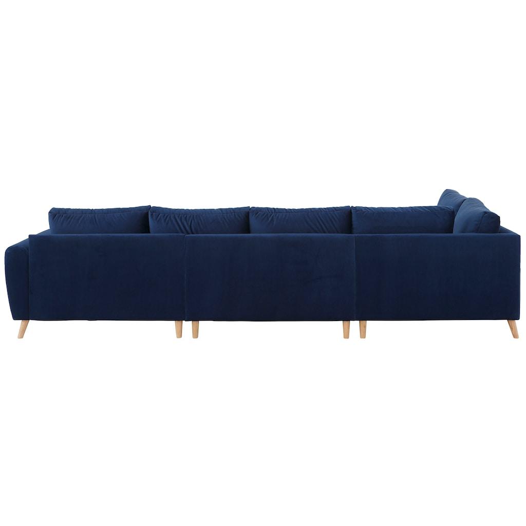 Home affaire Wohnlandschaft »Penelope Luxus«, mit besonders hochwertiger Polsterung für bis zu 140 kg pro Sitzfläche