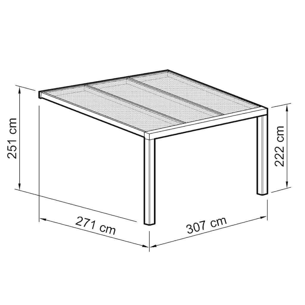 Beckmann Terrassendach »Exklusiv 1«, BxT: 307x271 cm, mit Regenrinne