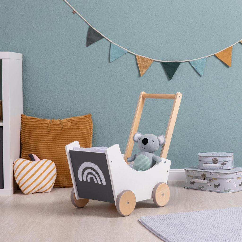 MUSTERKIND® Puppenwagen »Barlia, weiß/natur«
